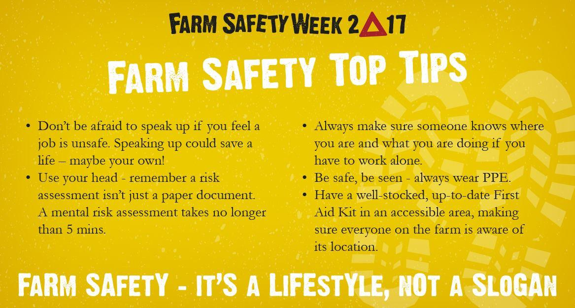 Farm Safety is a lifestyle, not a slogan